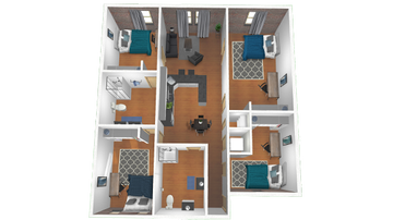 4x2 D Floor Plan Image