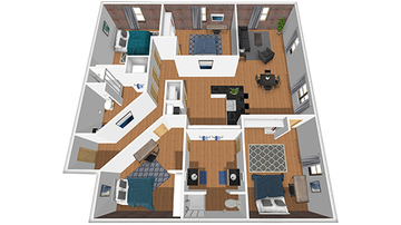 4x2 B Floor Plan Image