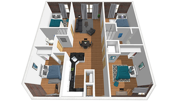 4x2 A Floor Plan Image